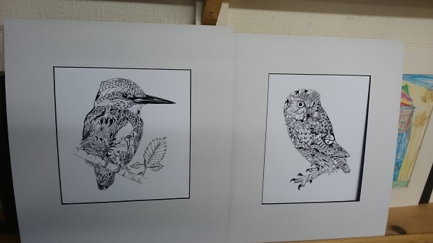 Owl and Kingfisher